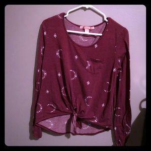 Purple pattern long sleeve